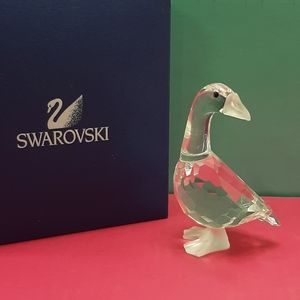 Swarovski Crystal mother goose figurine 7613